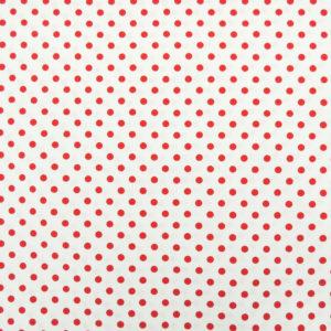 Ткань красный горошек