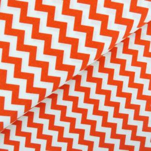 Ткань оранжевый шеврон - студия SOVA