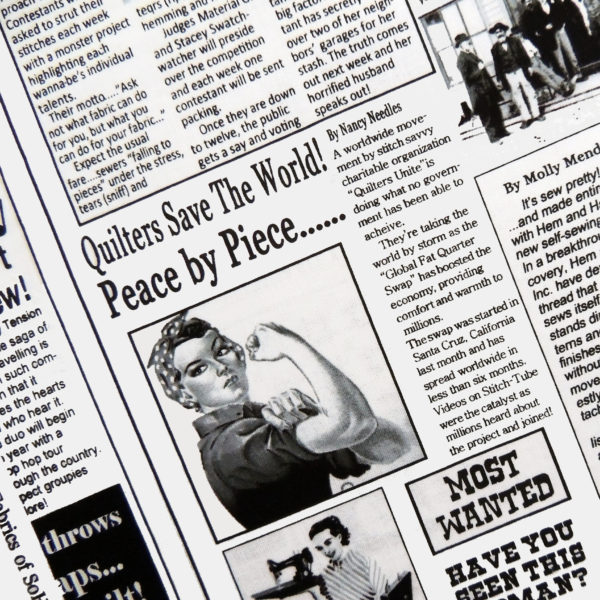Ткань газетная - студия SOVA