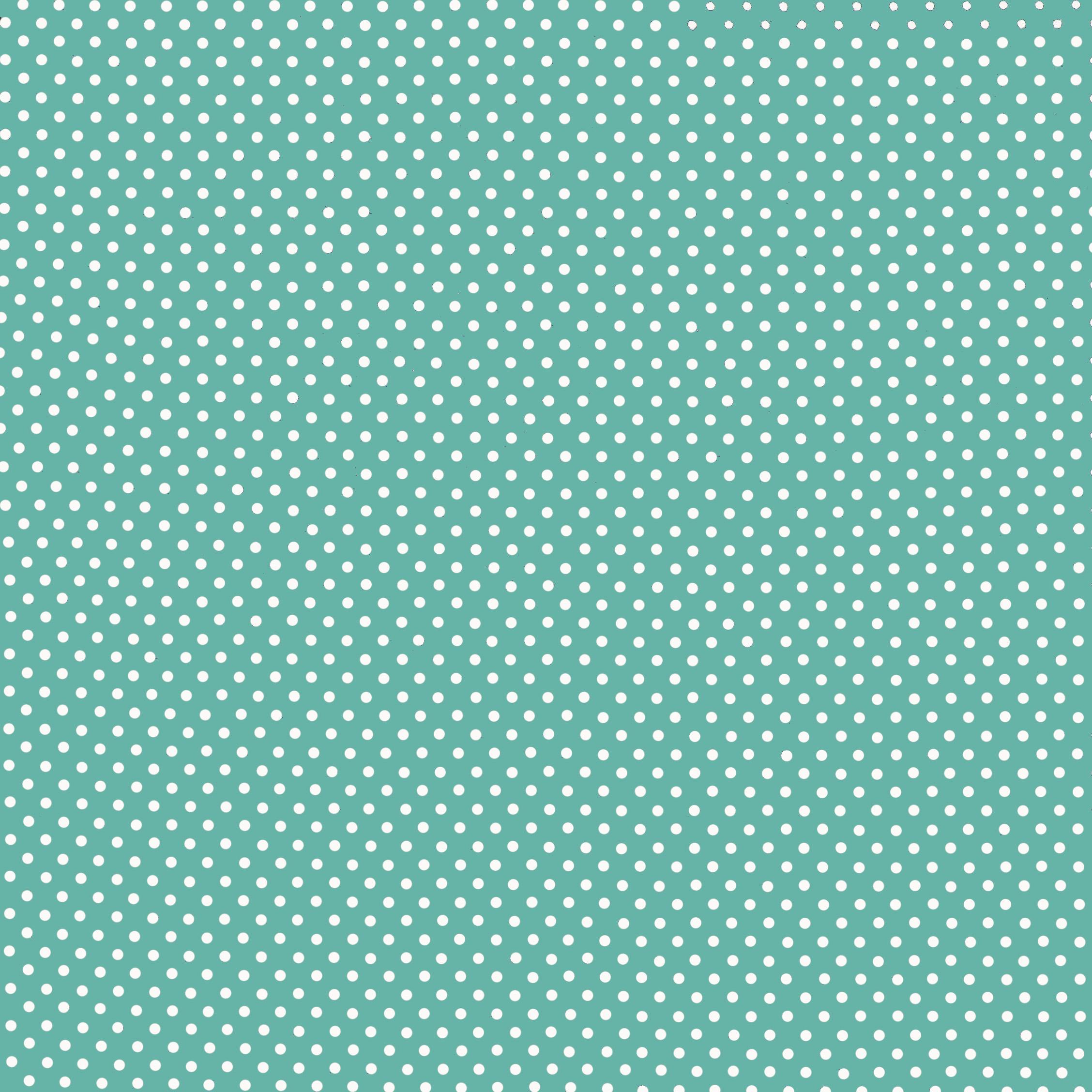 Ткань горошек мята - студия SOVA