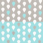 Ткань голубые капли - студия SOVA