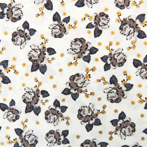 Ткань золотые цветочки