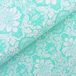 Ткань дамаск мятный - студия SOVA