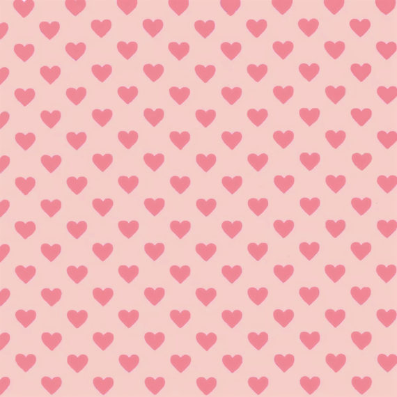 Ткань сердечки розовые