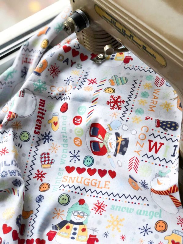 Ткань снеговик - студия SOVA