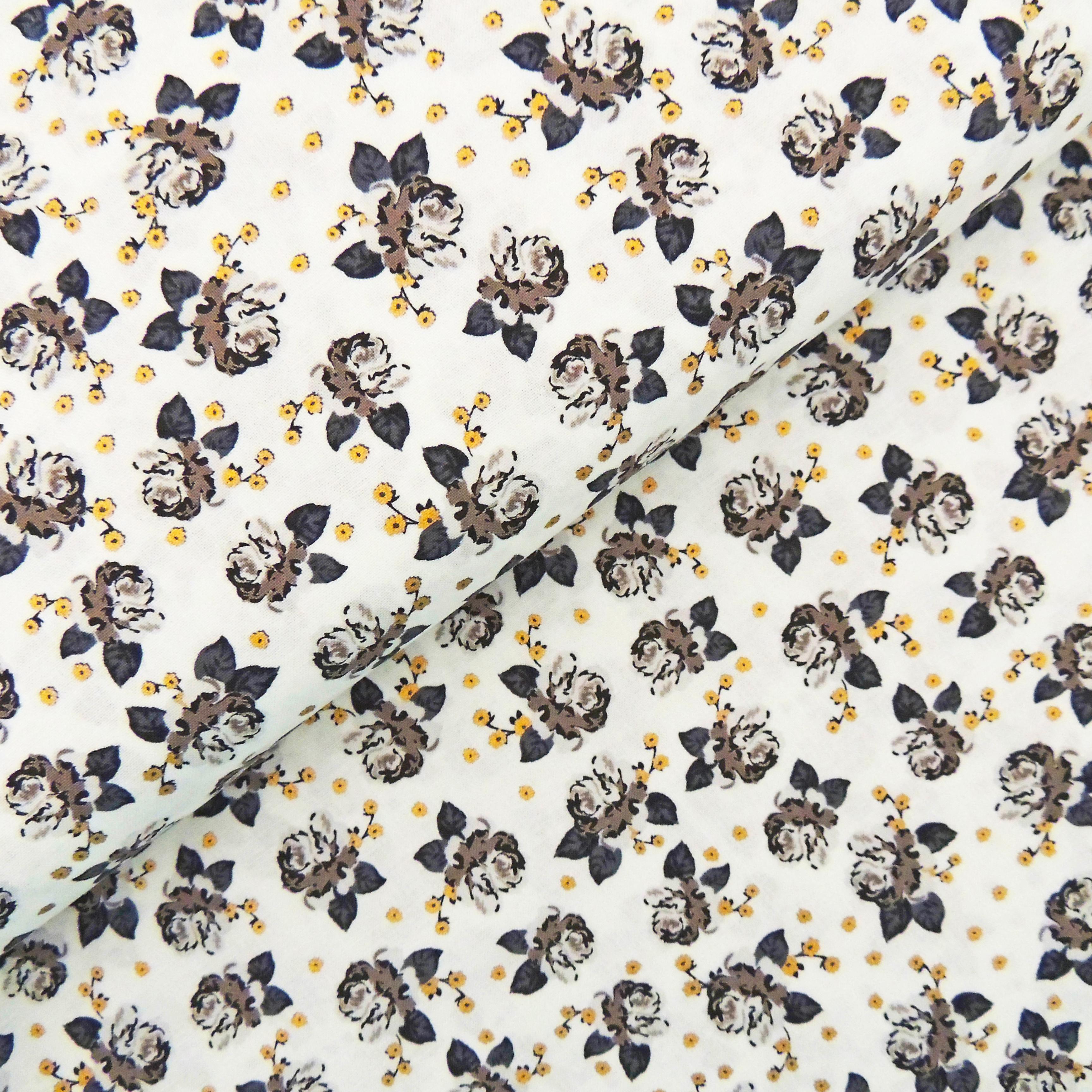 Ткань золотые цветочки - студия SOVA