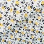 Ткань цветы с золотом - студия SOVA
