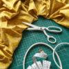 Ножницы портновские белые 20 см Aurora