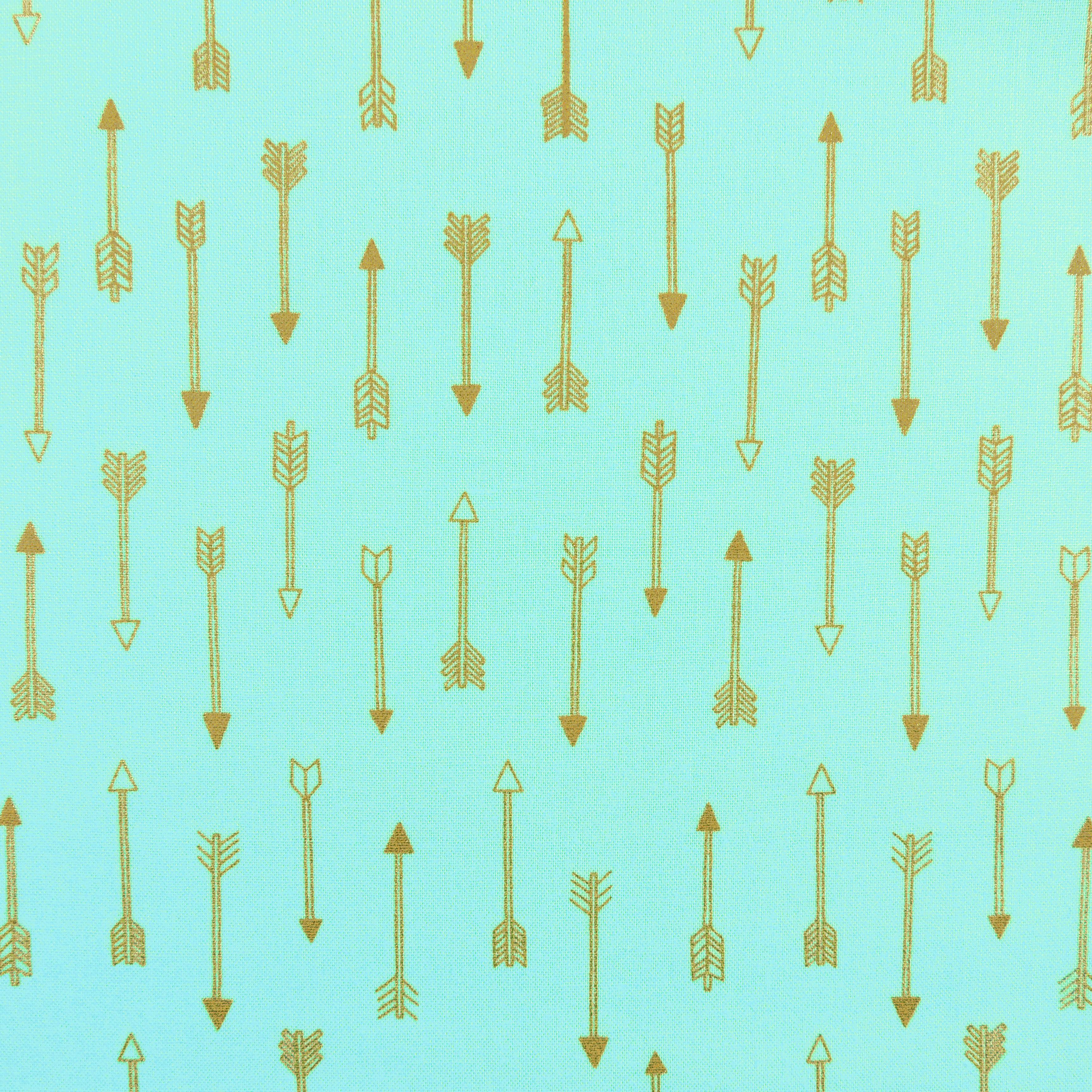Ткань стрелы золото - студия SOVA