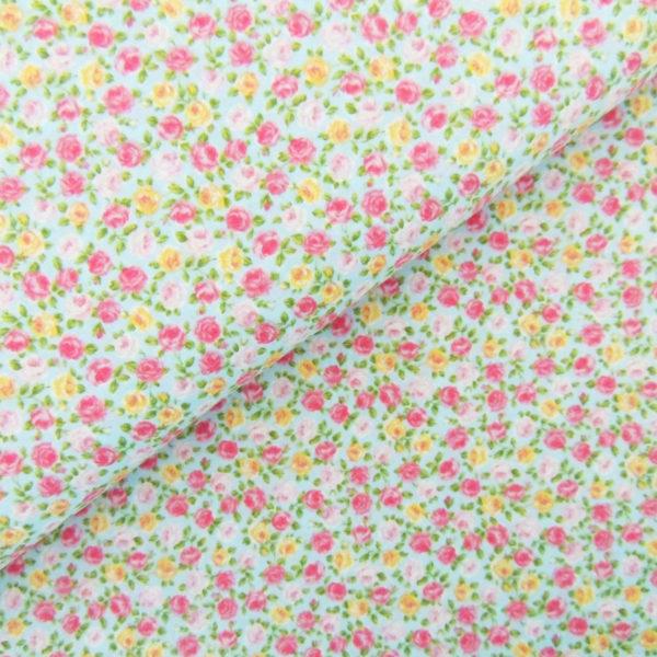 Ткань мелкие розочки - студия SOVA