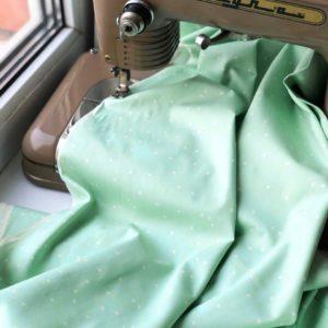 Ткань мятный горох - студия SOVA