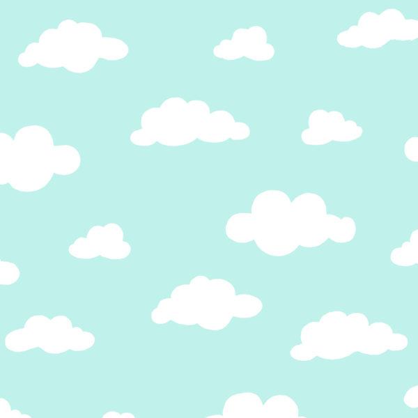 Ткань голубые облака - студия SOVA