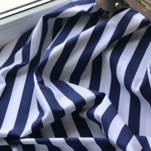 Ткань синяя полоска
