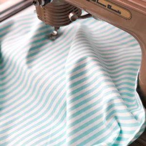 Ткань голубая полоска - студия SOVA