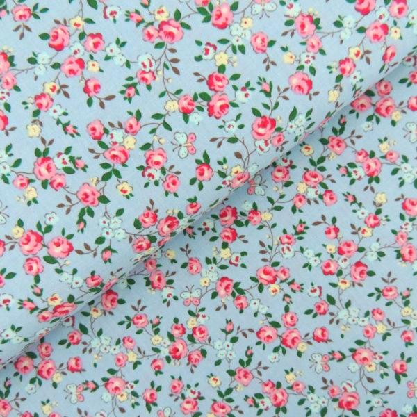Ткань садовые розочки - студия SOVA