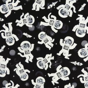 Ткань коты космонавты - ZIGZAG SHOP