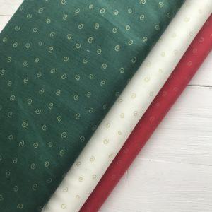 Ткань зеленые вензеля
