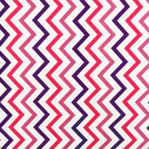 Ткань фиолетовый зиг-заг - студия SOVA
