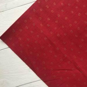 Ткань красные вензеля