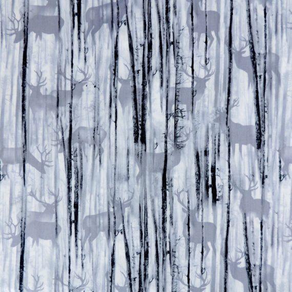 Ткань серые олени