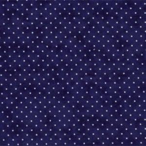 Ткань синий горошек Moda
