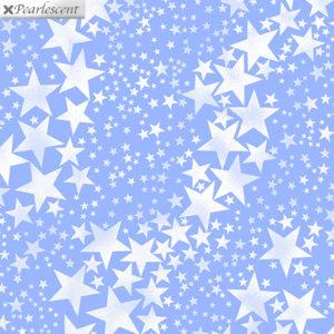 Ткань голубые звезды