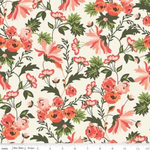 Ткань кремовые цветы