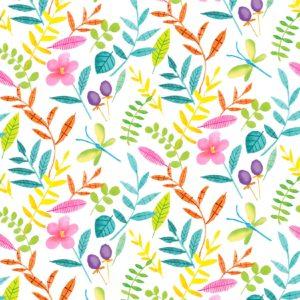 Ткань цветущий букет