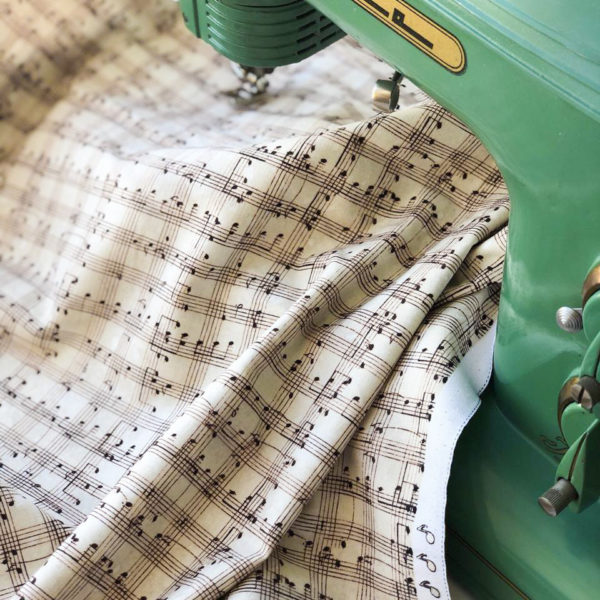 Ткань нотки - ZIGZAG SHOP