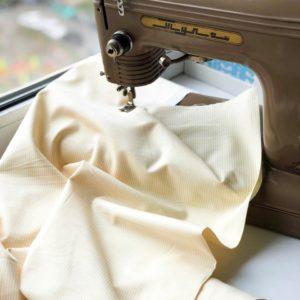 Ткань желтая полоска - студия SOVA