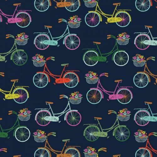 Ткань цветочные велосипеды - студия SOVA
