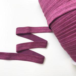 Бордово-фиолетовая однотонная лента
