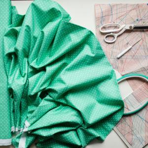 Ткань зеленый горох