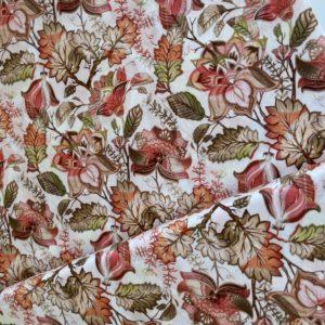Ткань оранжевые цветы Morris