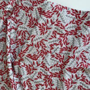 Ткань Moda 48273-14 красные листочки