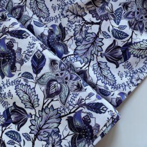 Ткань синие цветы Моррис