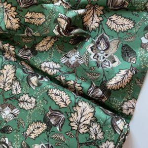 Ткань зеленые цветы Моррис