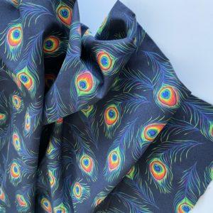 Ткань перья павлина