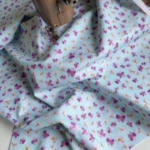 Ткань фиолетовые цветочки