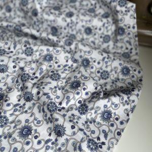 Ткань синие ветви цветов