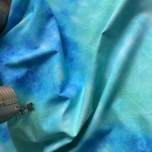 Ткань акварель морская волна
