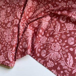 Ткань красные цветы Morris