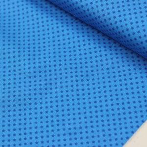 Ткань синие звезды