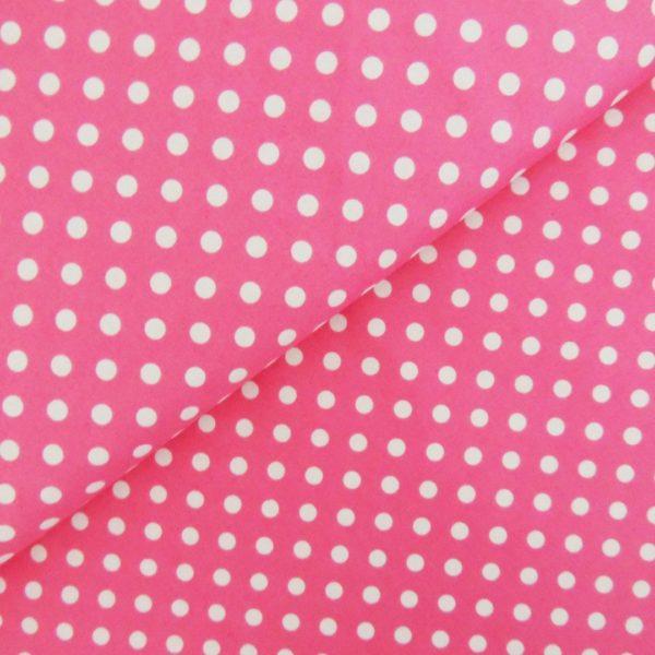 Ткань малиновый горошек