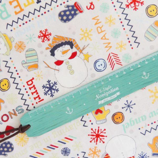 Ткань снеговик