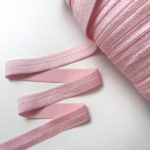 Светло-розовая однотонная лента