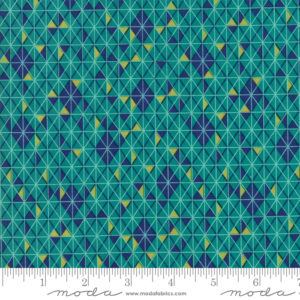 Ткань бирюзовая мозаика