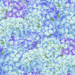 Ткань цветы гортензии