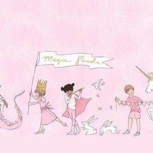 Ткань парад розовый