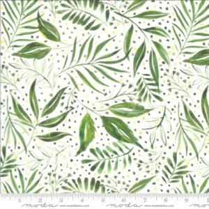 Ткань с листьями